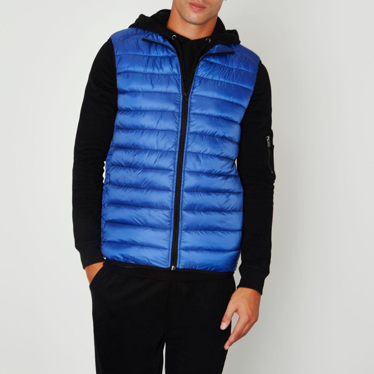 Blue puffer vest