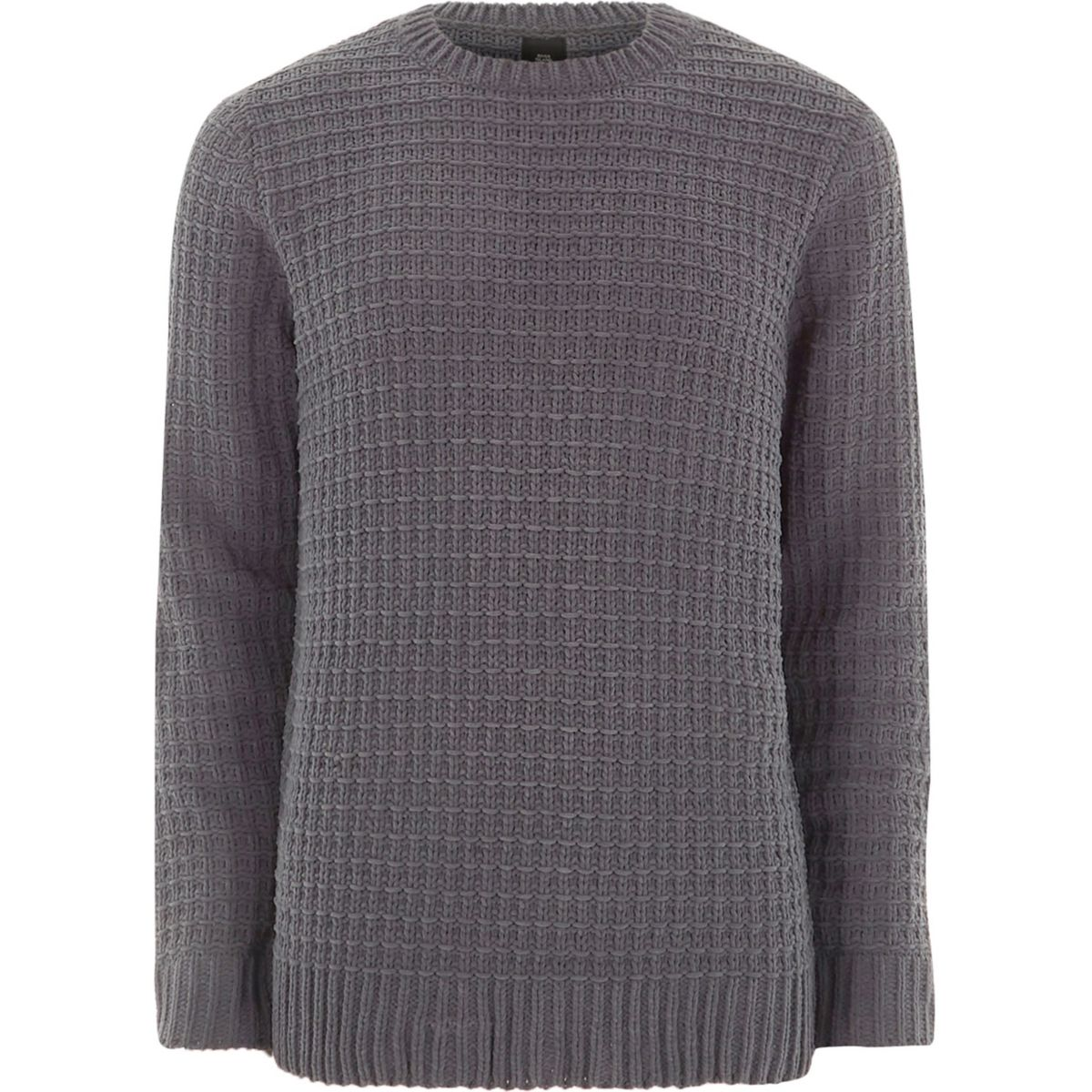 Dark grey textured sweater