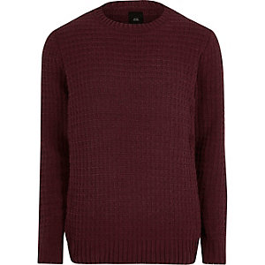 Burgundy textured sweater