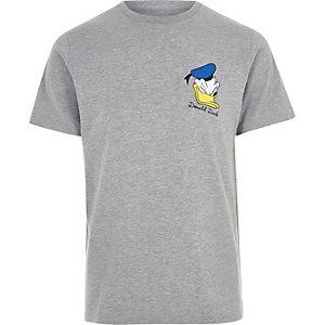 T-shirt à imprimé Donald Duck gris