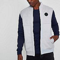 Light grey block chest patch padded vest