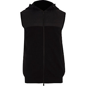Black zip-up gilet