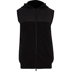 Veste noire zippée sans manches