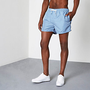 Light blue short swim trunks