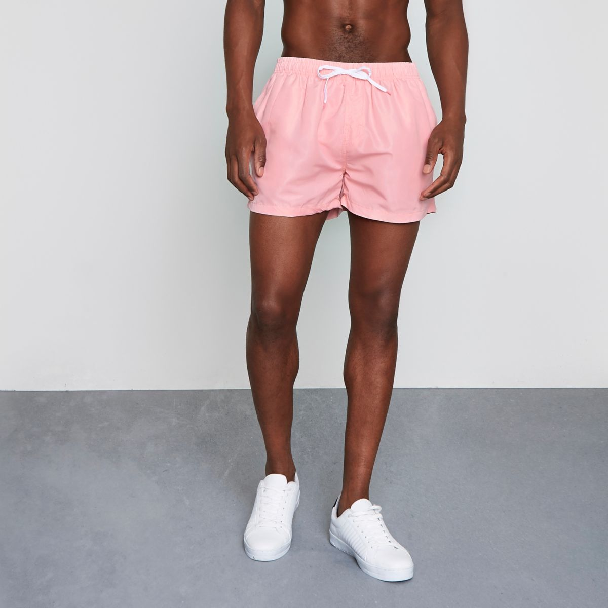 Light pink swim shorts