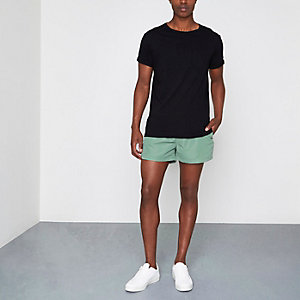 Olive green swim trunks
