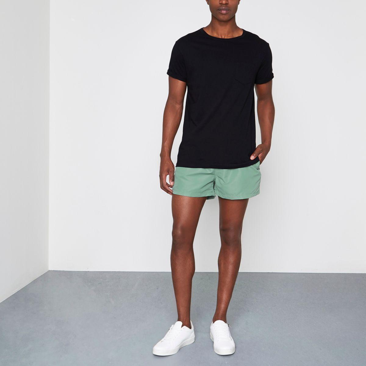 Olive green swim shorts