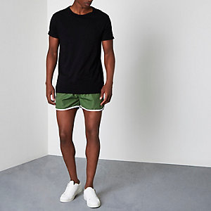 Green runner swim shorts