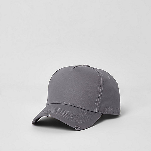 Grey distressed baseball cap