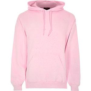 Sweat à capuche rose à manches longues