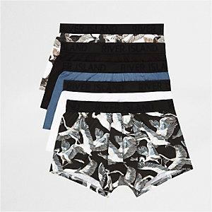 Blaue Hipster-Slips, Multipack