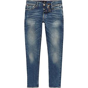 Mid blue Sid faded skinny jeans