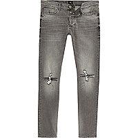Grey Sid ripped knee skinny jeans