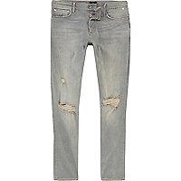 Sid – Jean skinny délavage bleu clair déchiré