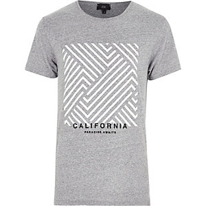 "Grau meliertes T-Shirt ""California"""