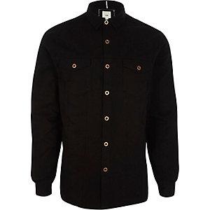 Zwart overshirt met knopen