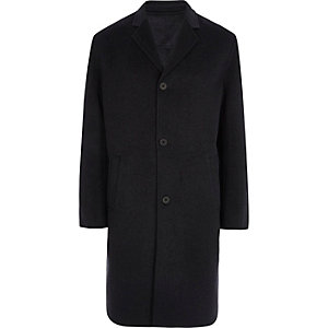 Grey cocoon coat