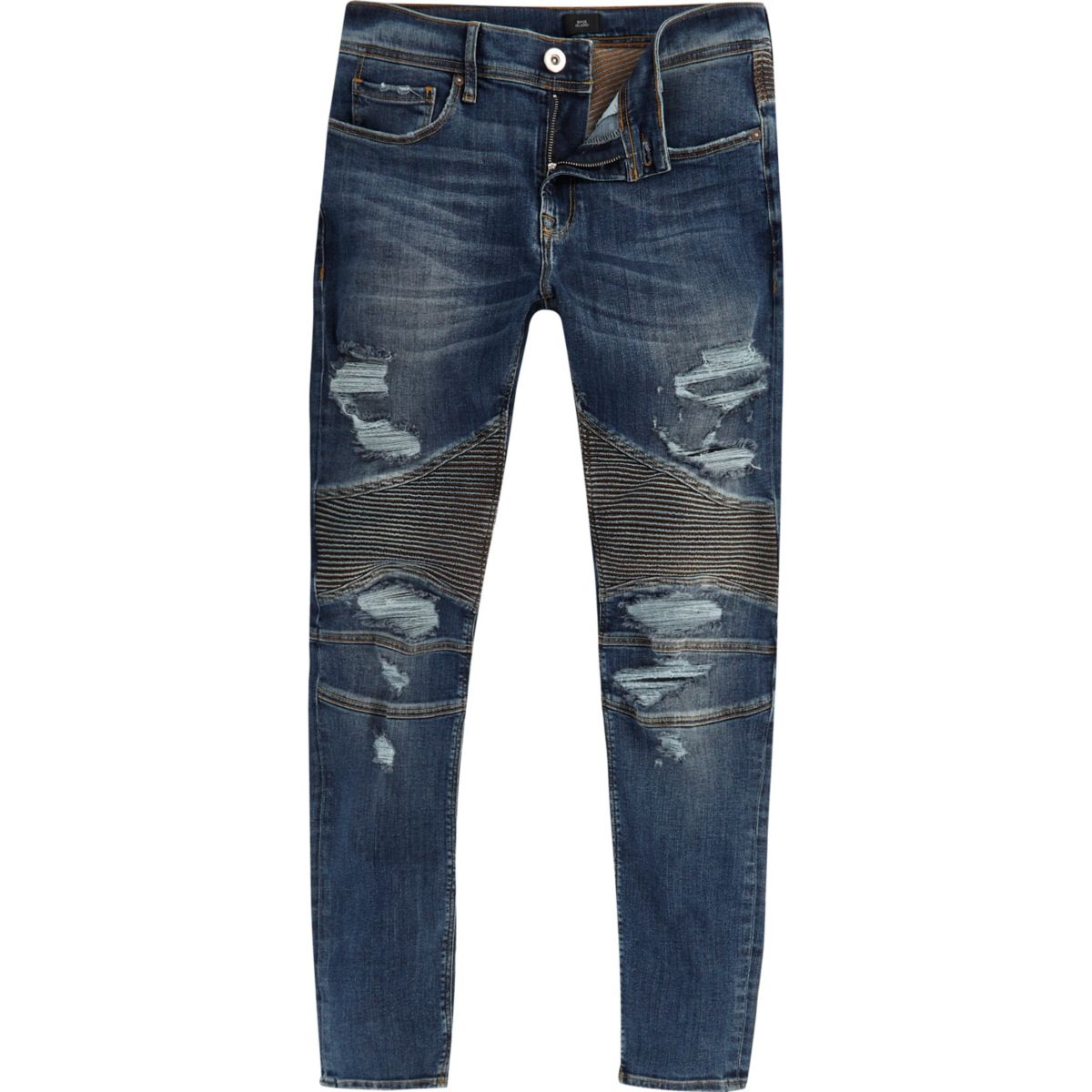 Danny – Superskinny Bikerjeans im Used-Look