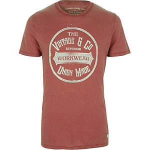 Jack & Jones – T-shirt imprimé rouge