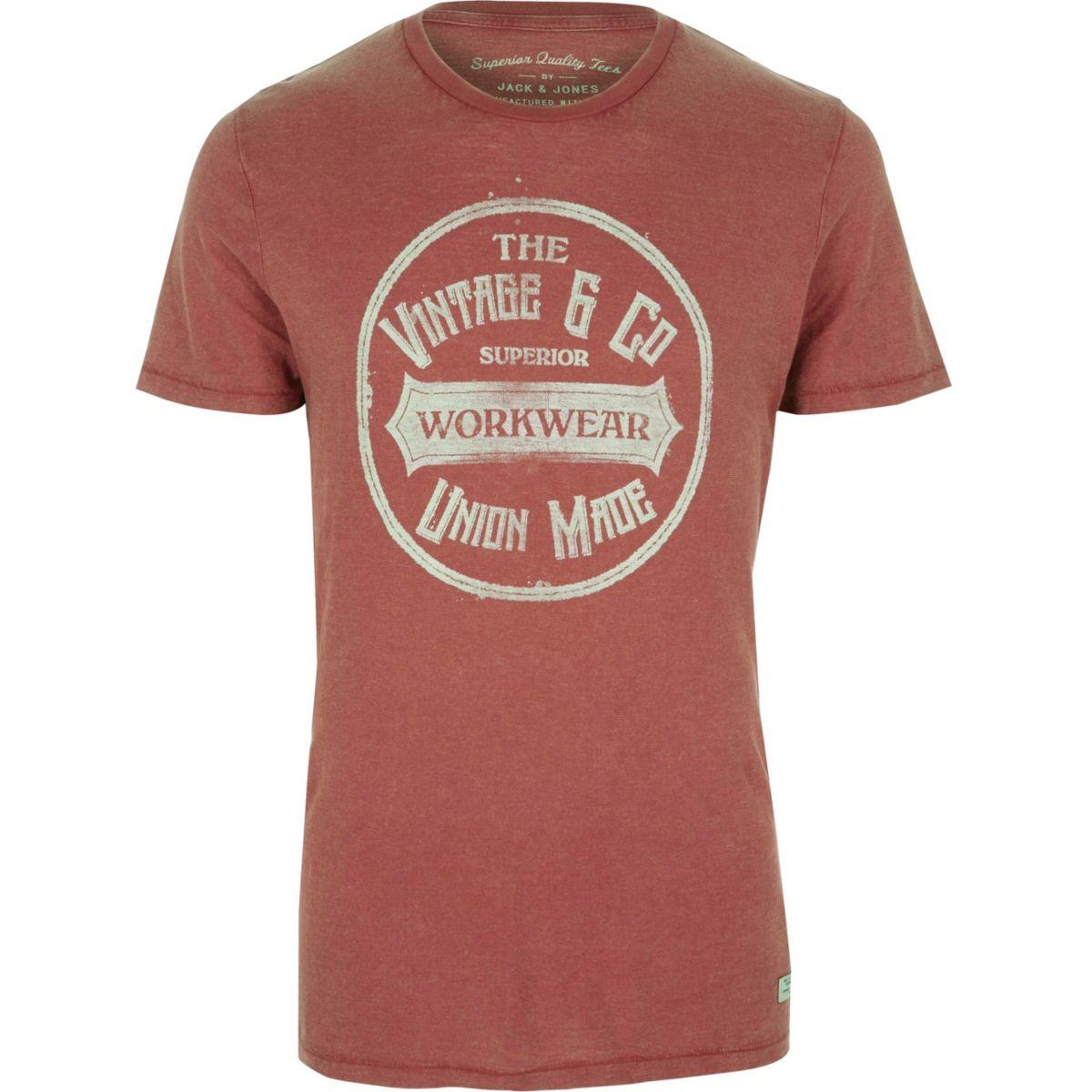 Red Jack & Jones printed T-shirt