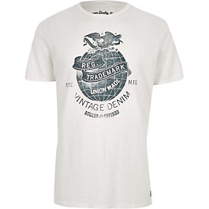 White Jack & Jones Vintage print T-shirt