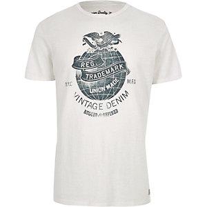 Jack & Jones – T-shirt blanc Vintage