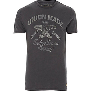 Blue Jack & Jones Vintage 'union' T-shirt