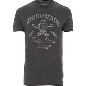 Jack & Jones Vintage - Blauw 'union' T-shirt