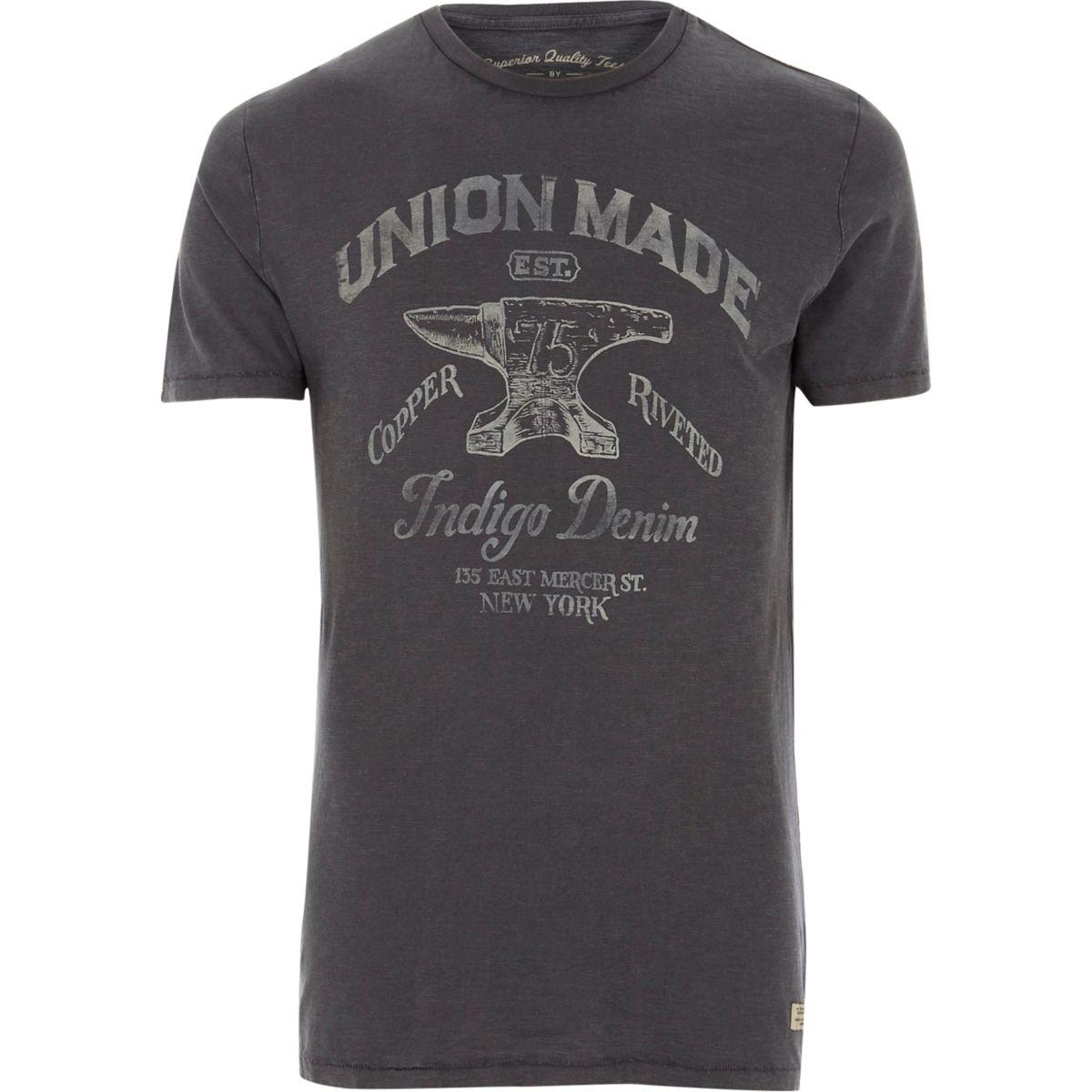 Blue Jack & Jones Vintage 'union' T-shirt