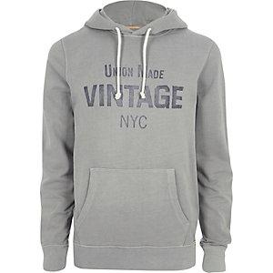 Grey Jack & Jones Vintage print hoodie
