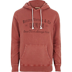 Red Jack & Jones print hoodie
