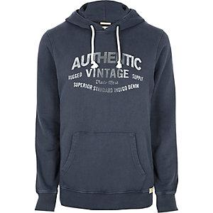 Blue Jack & Jones Vintage print hoodie
