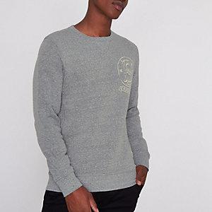 Blue Jack & Jones Vintage print sweatshirt