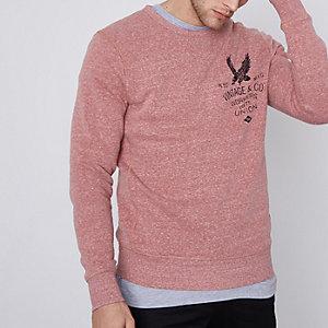 Red Jack & Jones Vintage print sweatshirt