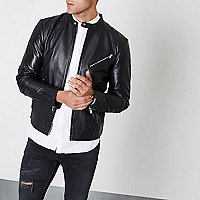 Black Jack & Jones Premium leather jacket