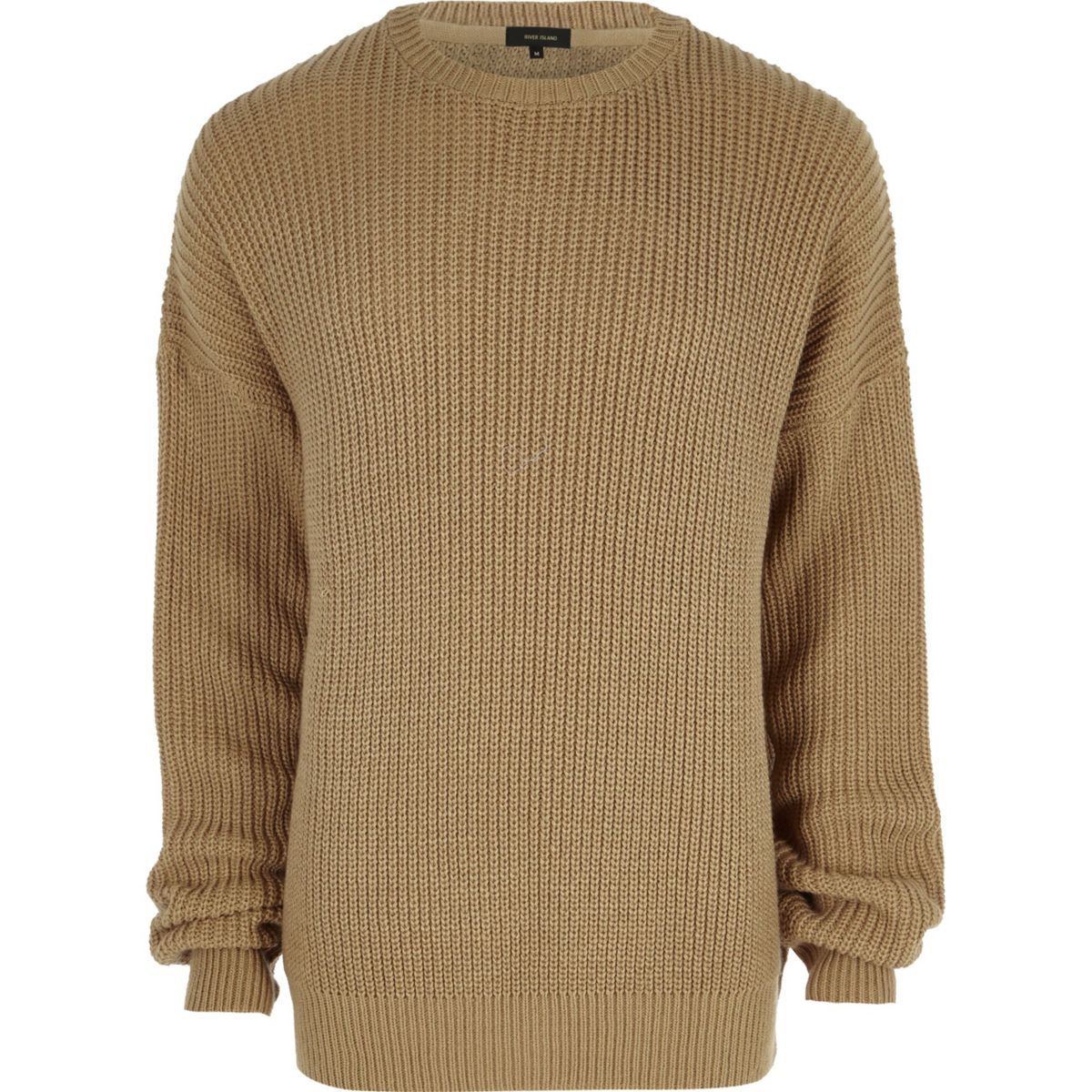 Camel oversized fisherman sweater