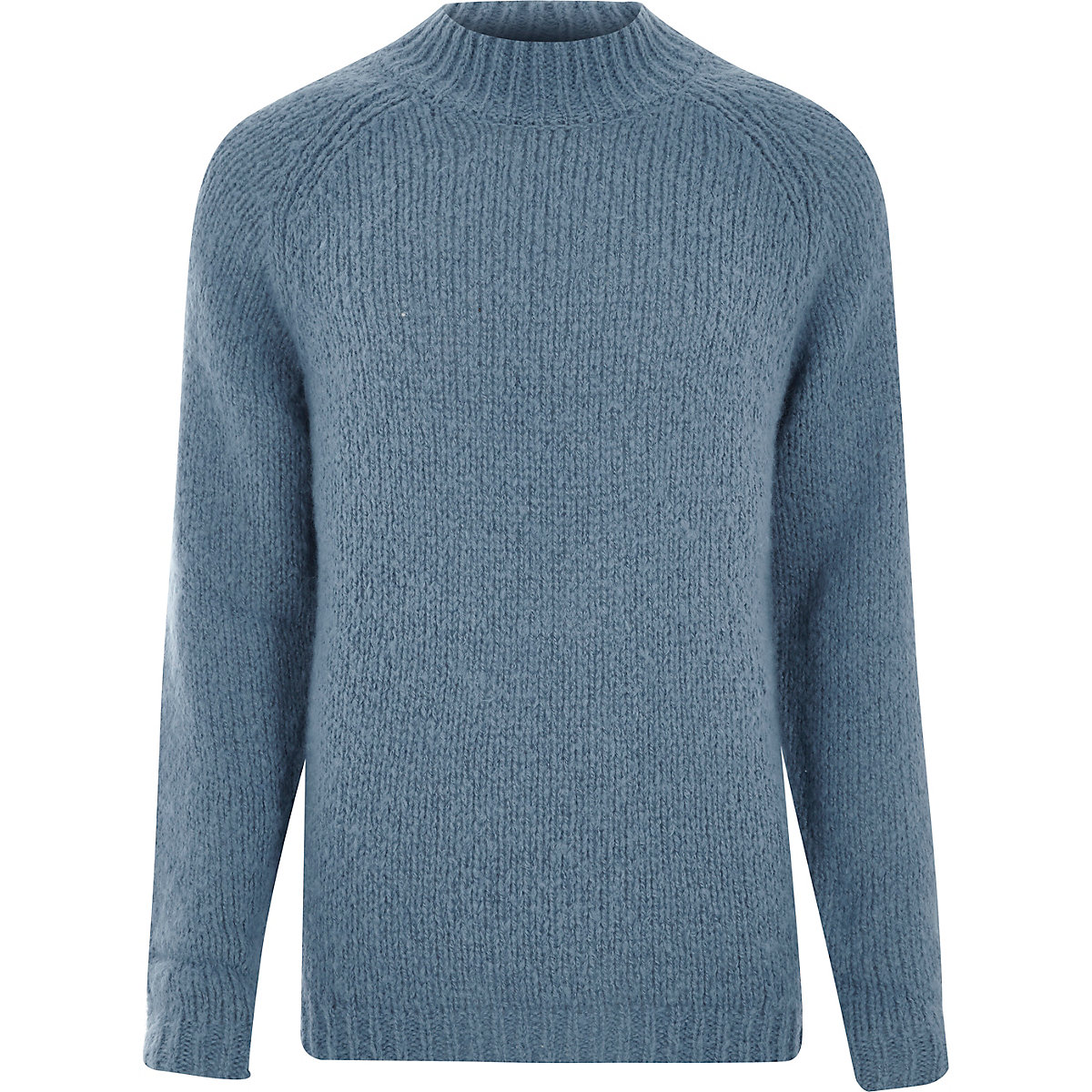 Light blue funnel neck sweater