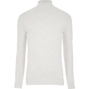 Cream roll neck long sleeve jumper
