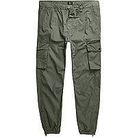 Big and Tall – Pantalon cargo vert kaki