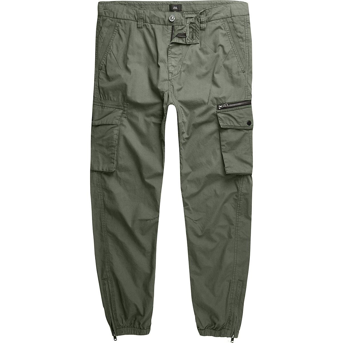 Big and Tall khaki green cargo pants