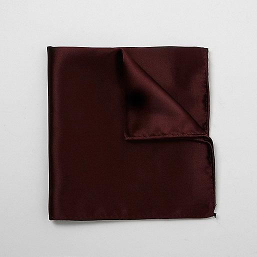 Burgundy pocket square