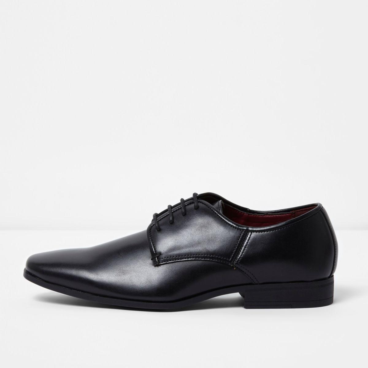 Black lace-up smart shoes