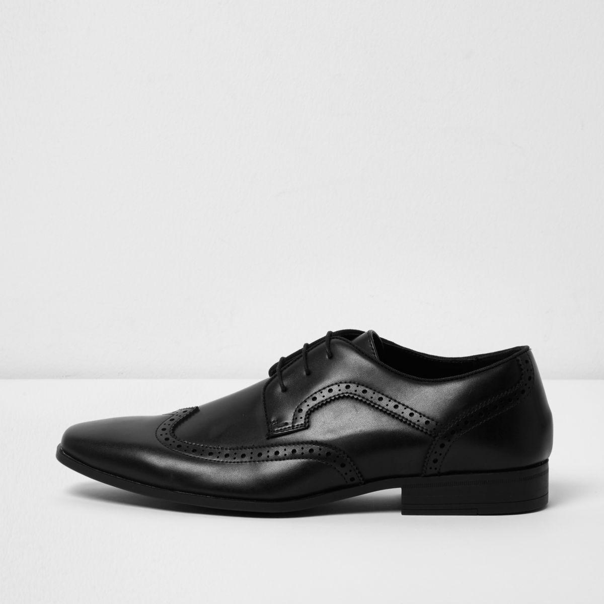 Black formal brogues