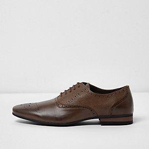 Chaussures richelieu texturées marron
