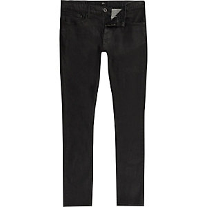 Black Danny coated super skinny jeans