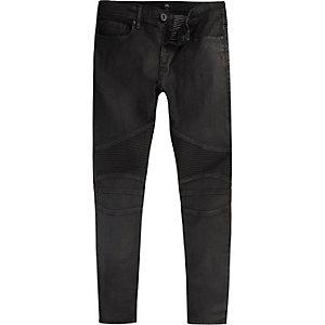 Black Danny biker super skinny jeans