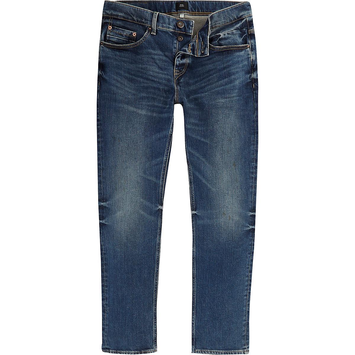 Dark blue fade Dean straight leg jeans