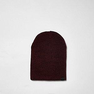Bonnet ample en maille rouge