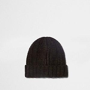 Bonnet marron en tricot