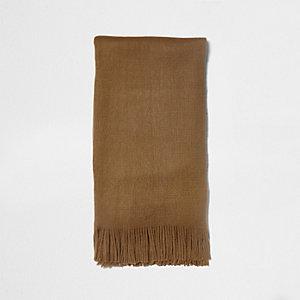 Écharpe façon couverture camel
